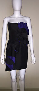 "NWD $460 FOLEY + CORINNA INTERMIX ""ORIGAMI"" STRAPLESS SILK DRESS PARTY S SMALL"