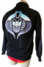 TRANSFORMER Decepticon track jacket vintage GI joe patch coat cobra  purple xs