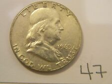 1963  Franklin Half Dollar Coin ~ 90% silver ~ Not Graded ~ Nice Coin!