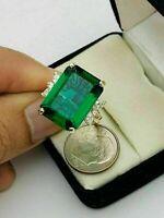 5Ct Emerald Cut Green Emerald & Diamond Engagement Ring 14k Yellow Gold Finish