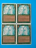 Wall of Ice 4X MP 4th Edition MTG Magic the Gathering