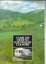FLEETWOOD CRYSTAL, CAVALIER AND COLCHESTER CARAVAN SALES BROCHURE 1987 + PRICES