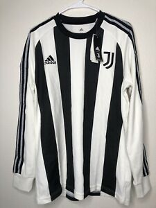 2020-2021 Adidas Juventus Soccer Long Sleeve Icons Jersey FR4216 Size M New