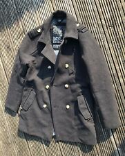 Mens Superdry Grey Wool Blend Pea Coat XXL