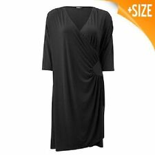 Polyester Casual Solid Wrap Dresses