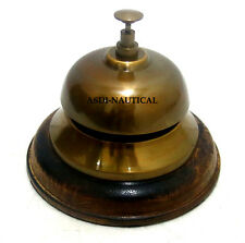Asdi-Nautical Vintage Solid Brass Table Desk Bell Hotel Office Ornate