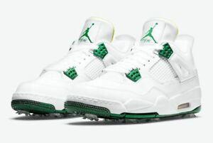 Nike Golf Air Jordan 4 IV NRG Metallic GreenLimited Men's Golf Shoes CZ2439-100