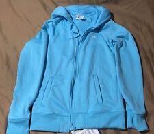 NWT Under Armour Women's Light Blue Sweatshirt With Hood, Size XS