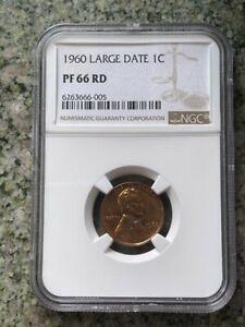 1960 1C LINCOLN MEMORIAL LARGE DATE NGC PR66 RD