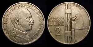 ITALY 1926 R 2 Lire VF