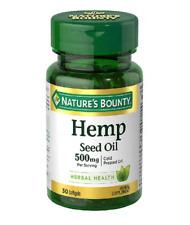 Nature's Bounty Hemp Seed Oil 500 mg 30 count