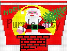 Santa and Chimney Stocking Pattern - Vintage Grace Ennis #6206C