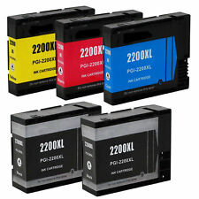 5-Pk/Pack PGI-2200XL PGI2200 Ink Cartridge For Canon MAXIFY MB5020 MB5320 iB4020