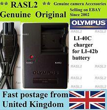 Genuino Original Olympus Charger Li-40C Li42B X-905 X-915 X-925 X-935 U700 U710
