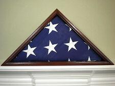 5 X 9 SAPELE  FLAG DISPLAY CASE BOX AMERICAN MILITARY BURIAL MEMORIAL FUNERAL