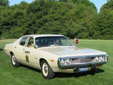 Old Photo. 1973 Dodge Coronet Police Car