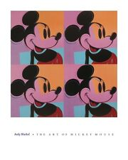 Andy WARHOL - MICKEY MOUSE - POP ART PRINT Poster 24x30 LAST ONE - OUT OF PRINT