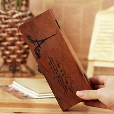 FD428 New Vintage Eiffel Tower Wood Wooden Pencil Case Pen Boxes Stationery