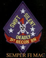 """XL US MARINES 1st Recon Battalion PATCH 5 3/4"""" FMF GUNNY HIGHWAY 1ST MAR DIV WOW"""