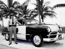 Ford Tudor Sedan Florida Highway Patrol  1949  8 x 10 Color Photograph