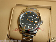 Rolex 116400 Milgauss Stainless Steel w/ Black Dial 40mm Latest Large Model