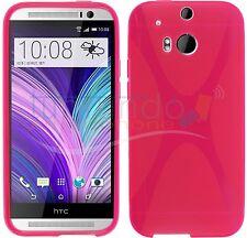 FUNDA de GEL TPU ROSA para HTC ONE 2 M8 en ESPAÑA CARCASA
