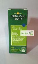NatureSun Aroms - Huile Essentielle Basilic Bio - 30 ml