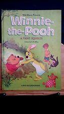 Vintage children's HC Big Golden book Winnie the Pooh Tight Squeeze Disney 1966