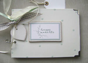 PERSONALISED  happy moments A5 SIZE. PHOTO ALBUM/SCRAPBOOK/MEMORY BOOK