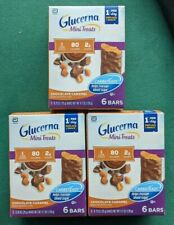 Lot 3 Glucerna Mini Treats Chocolate Caramel 6 Bars 4.2 oz Carbsteady