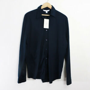 Halston Navy Button Up Dress Shirt Size M New with Tags