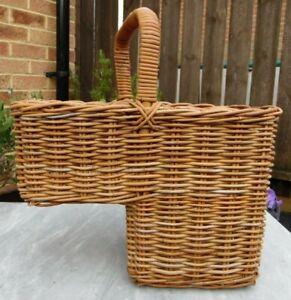 Handmade Vintage Wicker Stair Basket