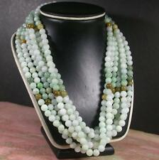 Green Yellow 100% Natural A JADE Jadeite Bead beads Necklace 21 inches 407376