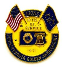Pin Spilla Lions International 1971 Pennsylvania Golden Anniversary 50 Years Of