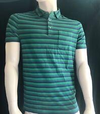 BNEWT MICHAEL KORS  Bold Stripe Evergreen MK Logo Polo Shirt Size S BARGAIN