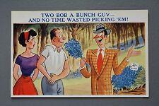 R&L Postcard: Sunshine Comic 5812, Two Bob Flowers, Spiv Wheeler Dealer