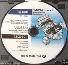 DVD MANUALE OFFICINA REPROM K4x WORKSHOP BMW K-1200-K-1300-S-R-GT - 2010 prm