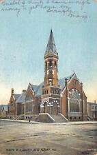 Trinity M.E. Church - NEW ALBANY IN - Indiana Vintage Postcard 1909