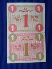 POLAND Communist - Gift Certificate and food stamps 1976 XI