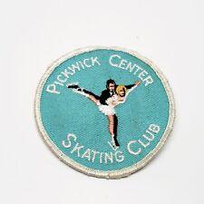 Vintage original Pickwick Center Skating club member award souvenir patch