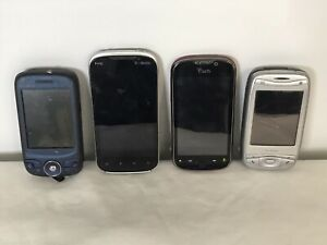 Lot of 4 Cell Phones for Parts T-Mobile My Touch Slide HTC