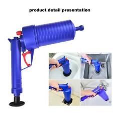 Air Drain Blaster Pump Plunger Sink Pipe Clog Remover Toilet Clean w/ 4 Plugs