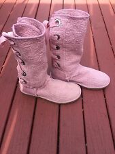 "UGG Pink Women's US Size 7 , EURO 38 ""Heirloom""  Lace Up Tall Boots 1000693"