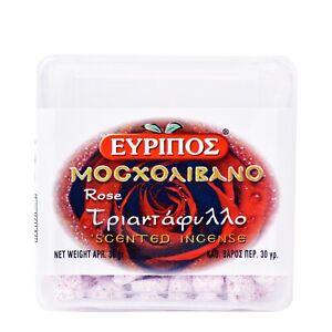 ORTHODOX GREEK EVRIPOS SCENTED ROSE INCENSE GREECE MOSXOLIVANO MOSHOLIVANO