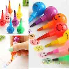 7pcs/Colors Mini Small Sugar-Coated Haws Cartoon Wax Pencil For Painting Kids