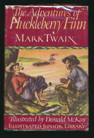 Mark Twain Huckleberry Finn Color Illustrated First Edition + Dust Jacket 1948