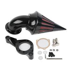 Black Cone Spike Air Cleaner Filter For Harley CV Carburetor Delphi V-Twin TCMT