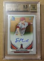 2014 Bowman Chrome Sean Newcomb Rookie Auto Card Graded BGS 9.5 Anaheim Angels