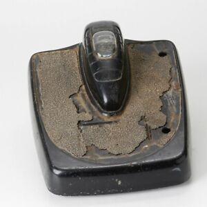 Vintage Detecto Mid-Century Art Deco Bubble Dial Black Chrome Bathroom Scale