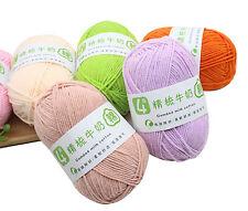 13 colors milk cotton for needlecrafts hand knitting crochet yarn DIY -USA
